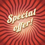 Special offer on a dynamic background, new product offer concept for your design